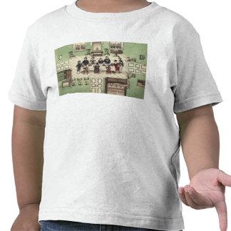 Comida de la familia de un diario escrito por Carl Camiseta