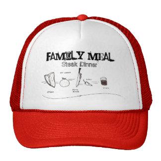 Comida de la familia, gorra del camionero de la ce