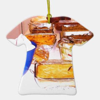 comida de la imagen de lynnfood.JPG para la cocina Adorno De Cerámica En Forma De Camiseta