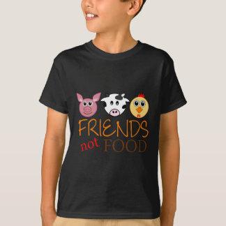 Comida de los amigos no camiseta