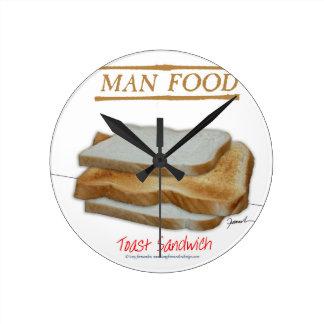 Comida del hombre de Tony Fernandes - bocadillo de Reloj Redondo Mediano