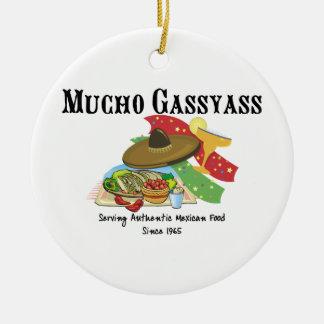 Comida del mexicano de Mucho Gassyass Adorno Redondo De Cerámica