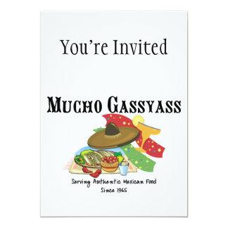 Comida del mexicano de Mucho Gassyass Invitación 12,7 X 17,8 Cm