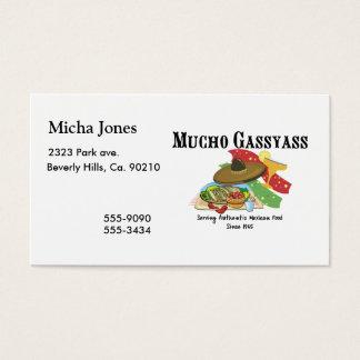 Comida del mexicano de Mucho Gassyass Tarjeta De Negocios