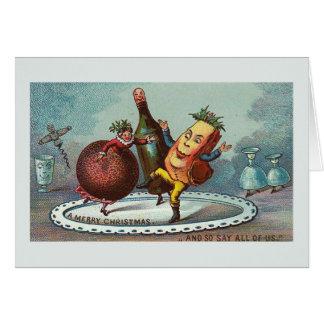 """Tarjeta """"Comida del navidad del baile!"""" Tarjeta del"""