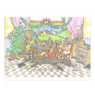 Comida del navidad postal