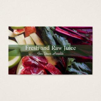 Comida del nutricionista de Juicing y verde de la Tarjeta De Negocios