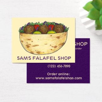 Comida del restaurante del bocadillo del Falafel Tarjeta De Negocios