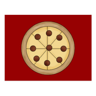 Comida deliciosa italiana de la empanada de pizza  postal