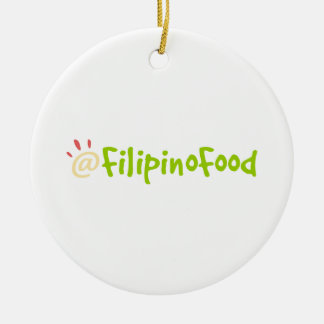 Comida filipina adorno de navidad