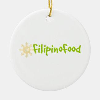 Comida filipina ornamentos de navidad