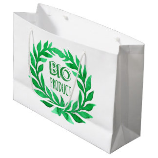 Comida fresca de la bio del producto del verde bolsa de regalo grande