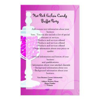 Comida fría fucsia del caramelo de las rosas folleto 14 x 21,6 cm