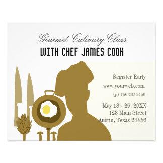 Comida gastrónoma que abastece el cocinero folleto 11,4 x 14,2 cm
