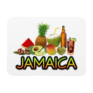 Comida jamaicana imán flexible