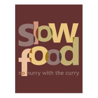 Comida lenta postales