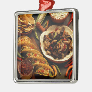 Comida mexicana ornamentos de reyes
