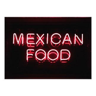 COMIDA MEXICANA - señal de neón roja