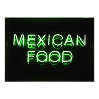 COMIDA MEXICANA - señal de neón verde