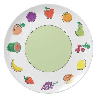 Comida para la base verde de Thought_Totally Fruit Plato