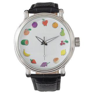 Comida para Thought_Totally Fruity_Circle de la Reloj De Mano