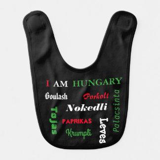 Comidas húngaras babero para bebé