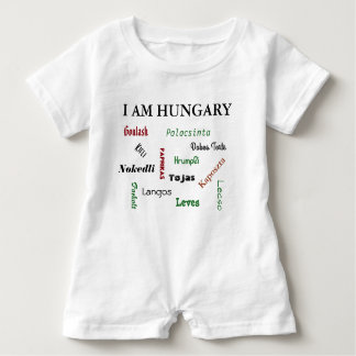 Comidas húngaras body para bebé