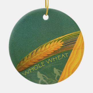 Comidas sanas del vintage, pan entero del trigo de adorno