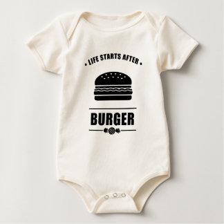 Comienzo de la vida después de BURGER_NO BG Body Para Bebé