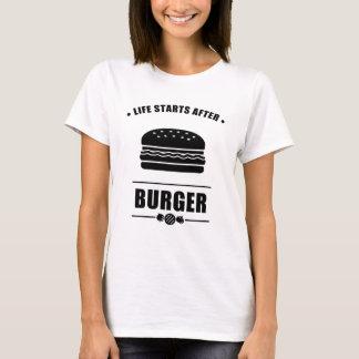 Comienzo de la vida después de BURGER_NO BG Camiseta