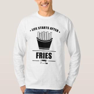 Comienzo de la vida después de FRITADAS Camiseta