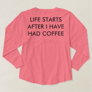 Comienzo de la vida después de que haya tenido camiseta spirit