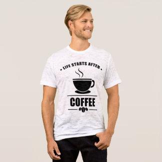 Comienzo de la vida después del CAFÉ Camiseta