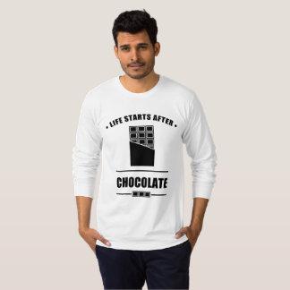 Comienzo de la vida después del CHOCOLATE Camiseta
