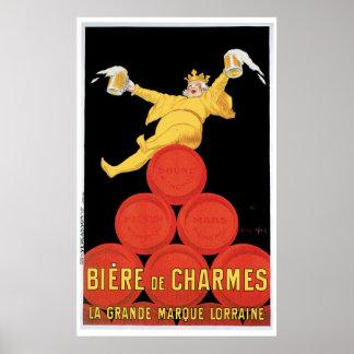 Comienzo de los Poster-precios de Biere de Charmes Póster