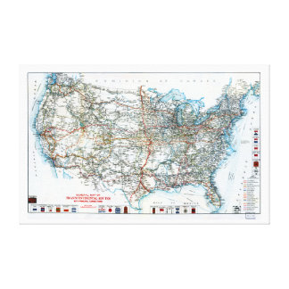 Comienzo del siglo XX histórico del mapa de la Lienzo