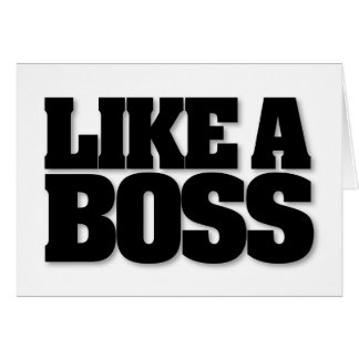 ¡COMO BOSS, un diseño para el jefe! Tarjetas
