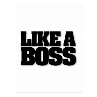 ¡COMO BOSS, un diseño para el jefe! Postal