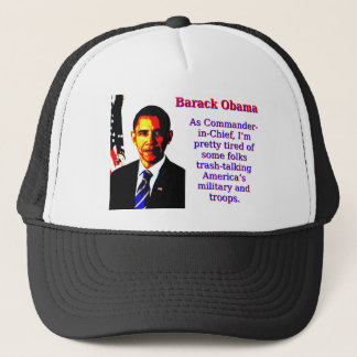 Como comandante en jefe - Barack Obama Gorra De Camionero