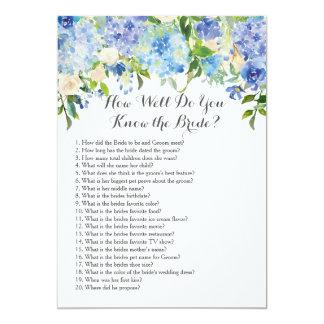 ¿Como de bien usted conoce a la novia? Invitación 12,7 X 17,8 Cm