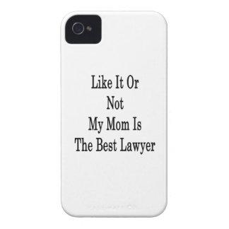 Como él o no mi mamá es el mejor abogado iPhone 4 Case-Mate cobertura