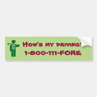 Cómo es mi sticket de parachoques la conducción pegatina para coche