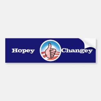 ¿Como esa cosa entera del changey del hopey? Pegatina Para Coche