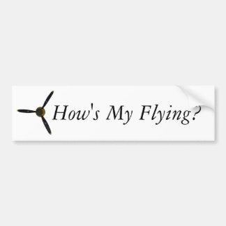 ¿Cómo está mi vuelo? Pegatina Para Coche