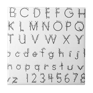 Cómo formar sus letras - escritura del alfabeto azulejo de cerámica