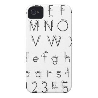 Cómo formar sus letras - escritura del alfabeto funda para iPhone 4 de Case-Mate