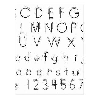 Cómo formar sus letras - escritura del alfabeto postal