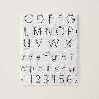 Cómo formar sus letras - escritura del alfabeto puzzle