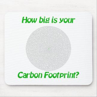 ¿Cómo grande es su huella del carbono? Alfombrilla De Ratón