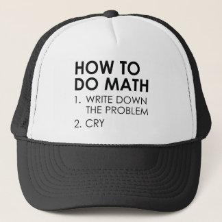 Cómo hacer matemáticas gorra de camionero